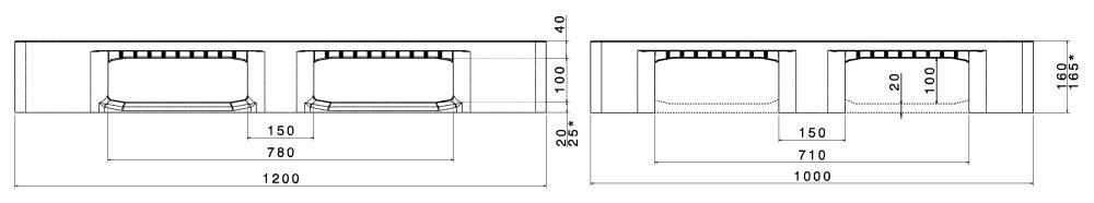 ИНДУСТРИАЛНИ ПАЛЕТИ CR3 / CR3-5 1200×1000 mm