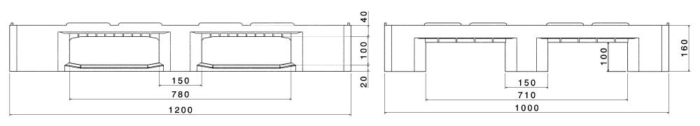 ИНДУСТРИАЛНИ ПАЛЕТИ H3 Conductive 1200x1000 mm