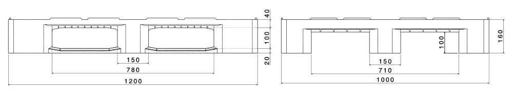 ИНДУСТИАЛНИ ПАЛЕТИ H3 ECO 1200x1000mm