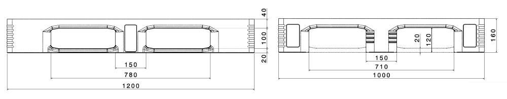 ИНДУСТРИАЛНИ ПАЛЕТИ TC3/TC3-5 ECO 1200x1000mm